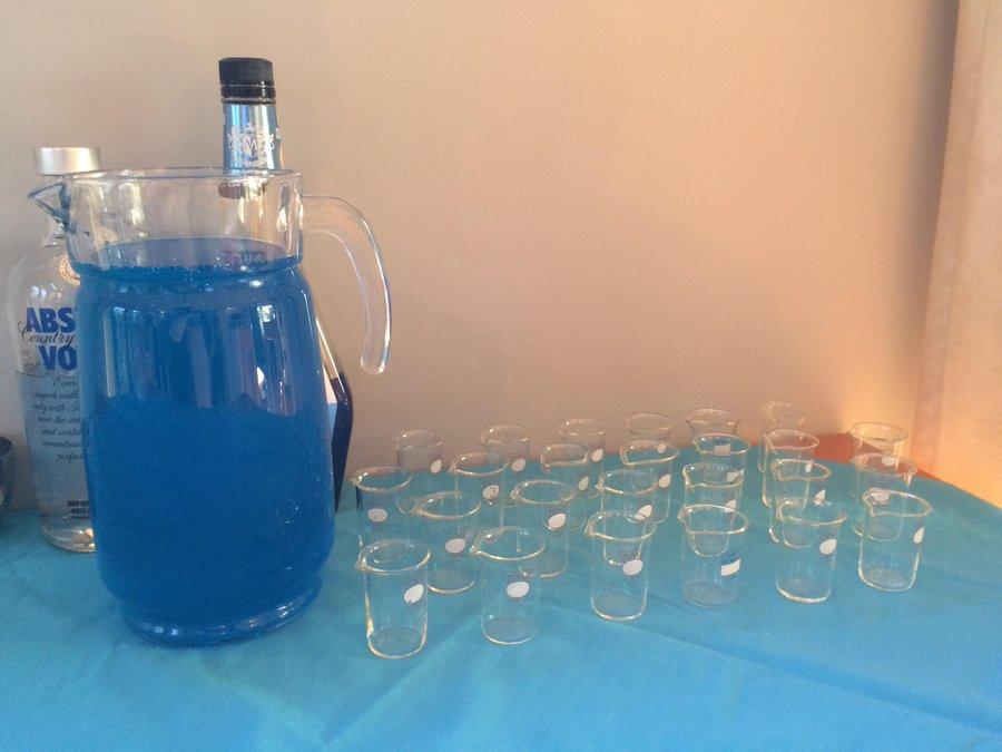 Electric blue 1.21 gigawatt and beakers