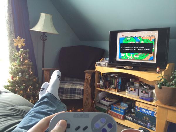 Super Nintendo Controller and Super Mario World