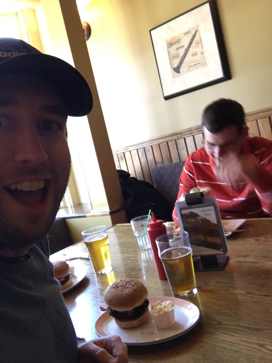 James and Grant at Paddy's Pub