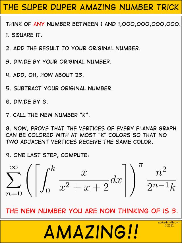 9 step math-magic trick