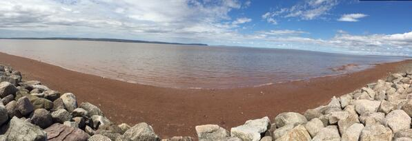 Panorama of the Beach in Grand Pre