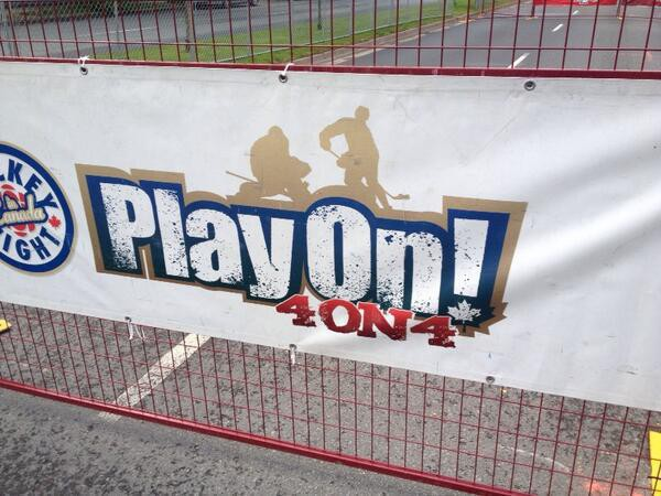 Play On 4 on 4 Street Hockey Tournament Poster