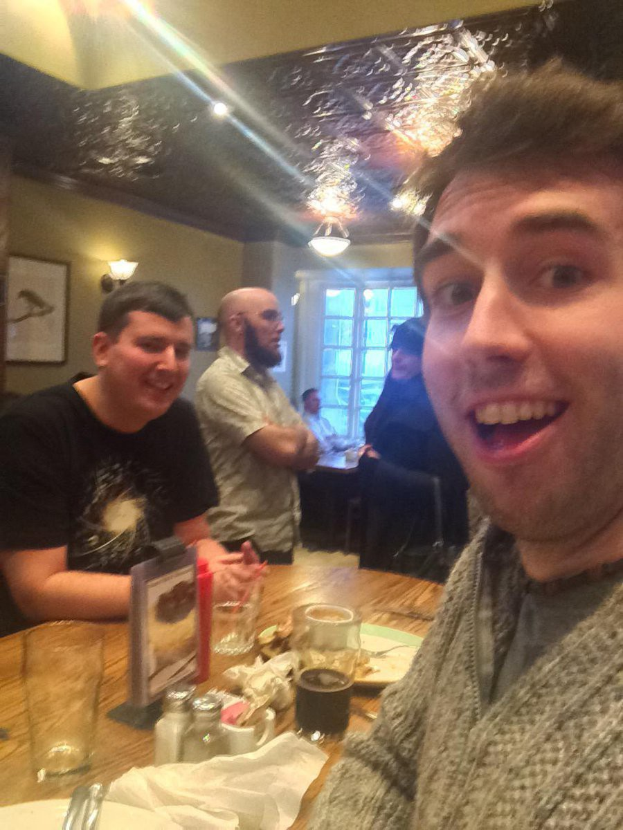 James, Grant, and Ross in Paddy's Pub