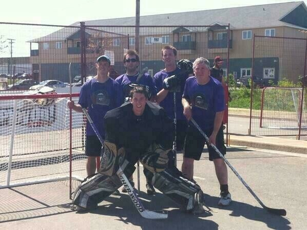 Ken, James, Mike, Mike Sr, and Trevor after winning Play On Moncton 2014