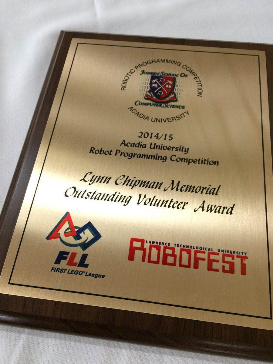 2014/2015 Lynn Chipman Memorial Outstanding Volunteer Award