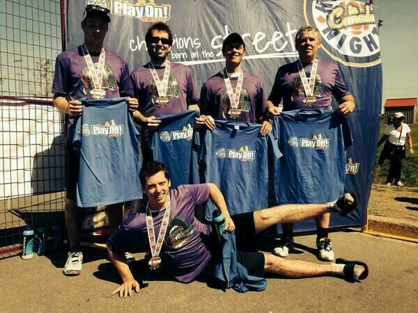 Mike, James, Ken, Mike Sr, and Trevor with Medals and Champion shirts