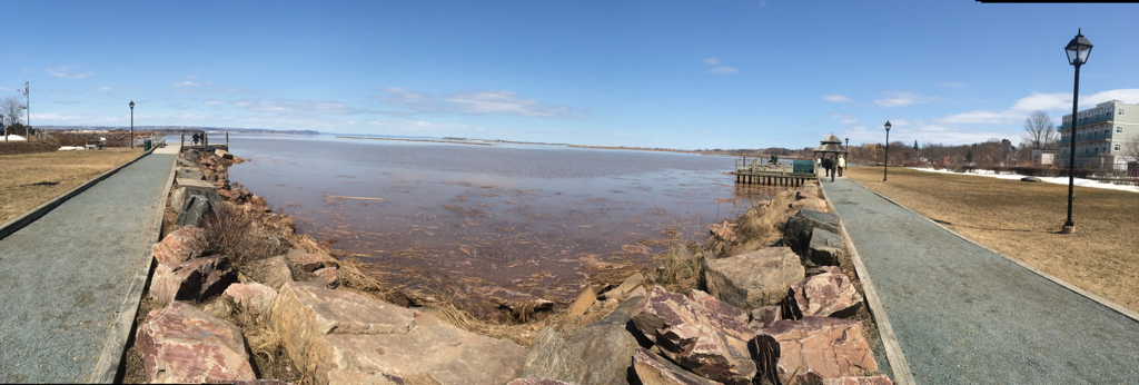 Panorama of Minas Basin from Wolfville