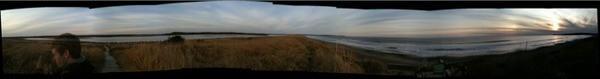 Panoramic beach shot