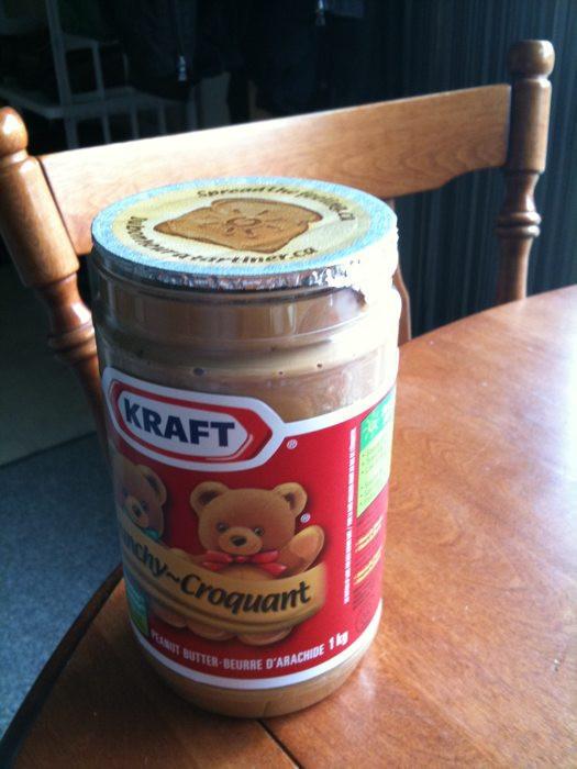 Unopened bottle of Kraft crunchy peanut butter