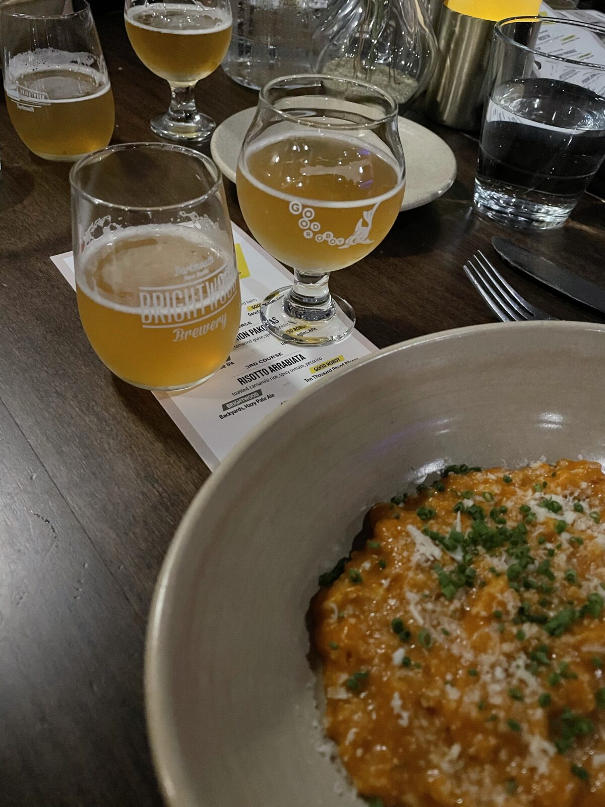Round 3 beers and Risotto